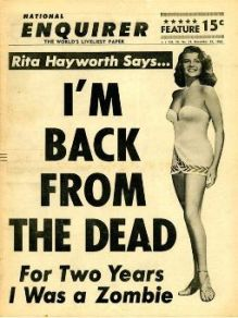 Rita Hayworth in the Enquirer